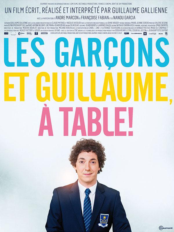 Affiche Les garçons et Guillaume à table !